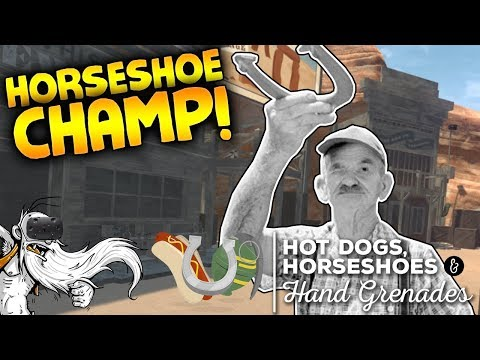 """Hot Dogs Horseshoes & Hand Grenades VR Gameplay - """"HORSESHOES CHAMP!!!"""" Virtual Reality Let's Play"""