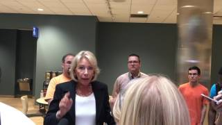 Education Secretary Betsy DeVos talks about supporting college students