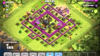 Clash of clans--10 dragons 400k+, 653 DE