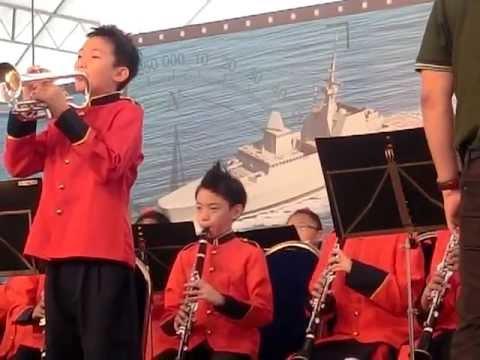 Poi Ching School Band Performance at Changi Navy Base