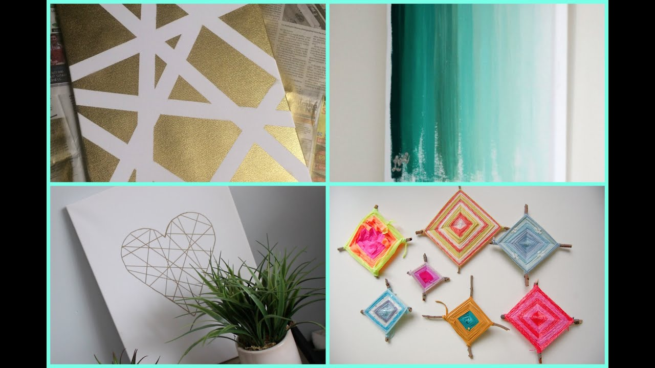 Wall Decor Diy diy dorm room decor: wall art - youtube