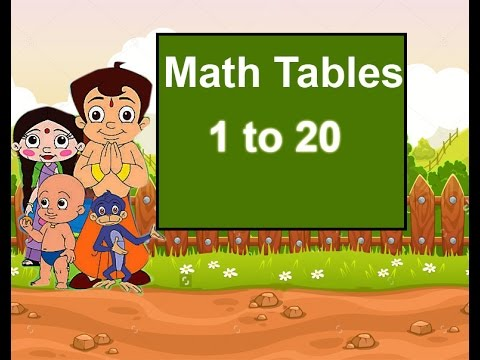Worksheets 1to 20 Tebal tables for kids maths table of 1 to 20 youtube 20