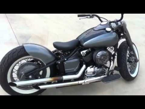 vstar 650 bobber youtube. Black Bedroom Furniture Sets. Home Design Ideas