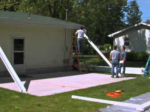 how to install the teton patio cover part 1