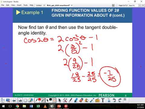 5.5 Double Angle Identities part 3