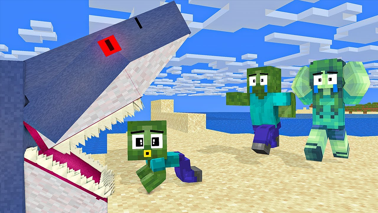 Monster School : POOR BABY ZOMBIE and Bad Baby Skeleton - Sad Story - Minecraft Animation