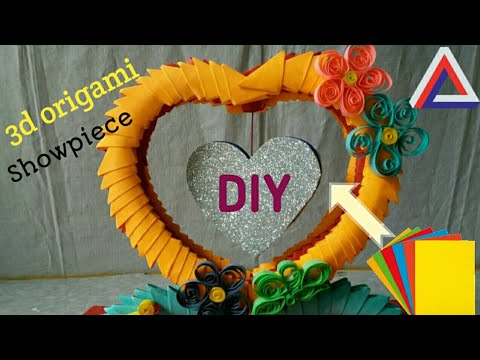 3d origami showpiece how to make photo frame using paper