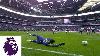 Aubameyang has potential game-winning PK saved v. Tottenham | Premier League | NBC Sports