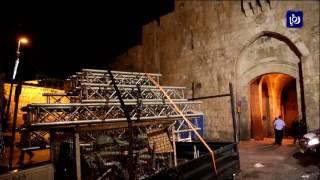 جلالة الملك يبحث مع الرئيس الفلسطيني آخر المستجدات في الحرم القدسي - (27-7-2017)