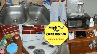 10 Simple Tips/ Habits For Clean and Organized Indian Kitchen | Real Homemaking