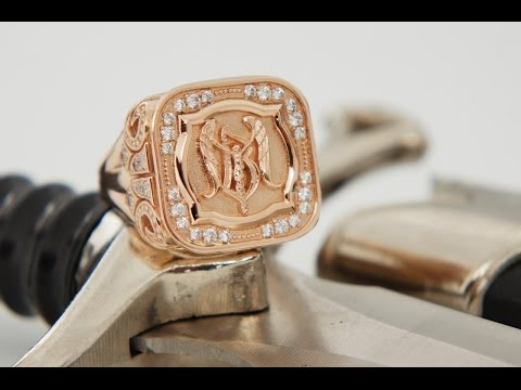 Мужской перстень процесс изготовления
