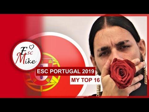 Eurovision 2019 Portugal [Festival da Canção] - My Top 16 [With RATING]