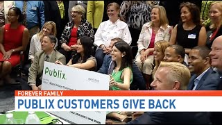 Publix Super Markets & customers donate over a million to charity, including Forever Family!
