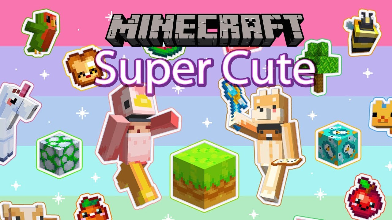 Minecraft Super Cute Texture Pack Review Gameplay Youtube