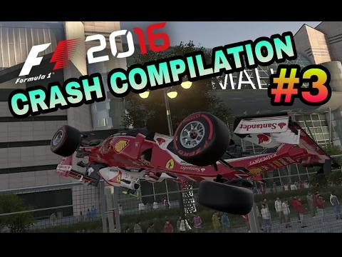 F1 2016 GAME - CRASH COMPLATION |