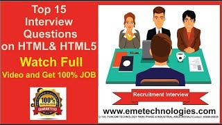 Top 15 HTML Interview Questions and Answers