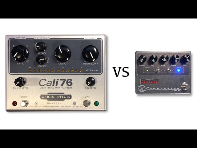 Origin Effects Cali76 vs Keeley Compressor Pro