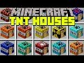Minecraft TNT HOUSES MOD | SPAWN TNT STRUCTURES TO LIVE INSIDE! | Modded Mini-Game (Education)