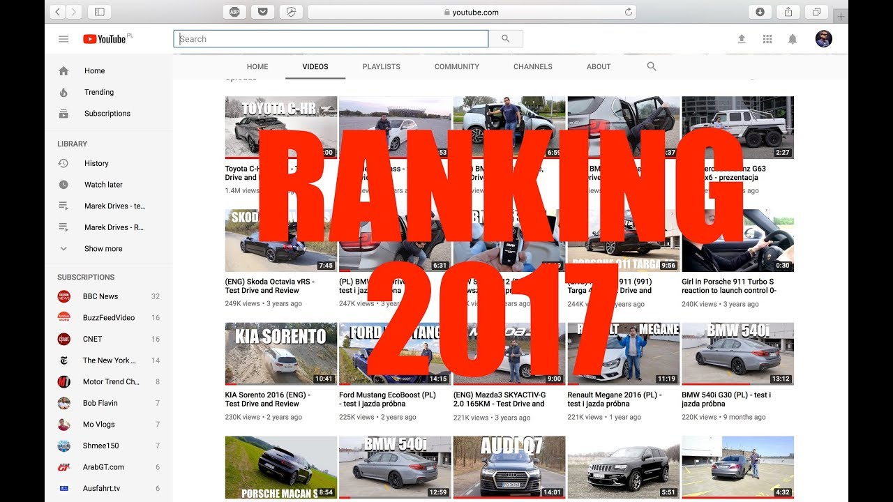 Marek Drives Best and Worst Cars Ranking 2017 (ENG)