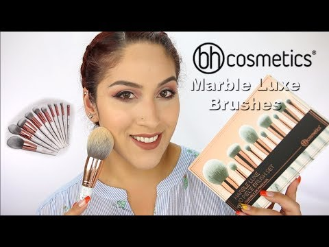 NEW! BH Cosmetics Marble Luxe Brush Set | Review & Demo