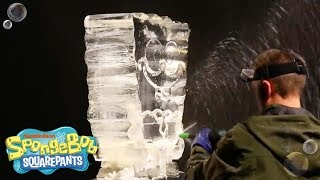 SpongeBob SquarePants | Ice Sculpture Time Lapse | Nick