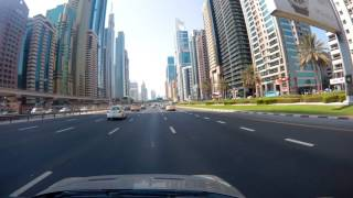 Dubai, Sheikh Zayed Road Drive 4k video