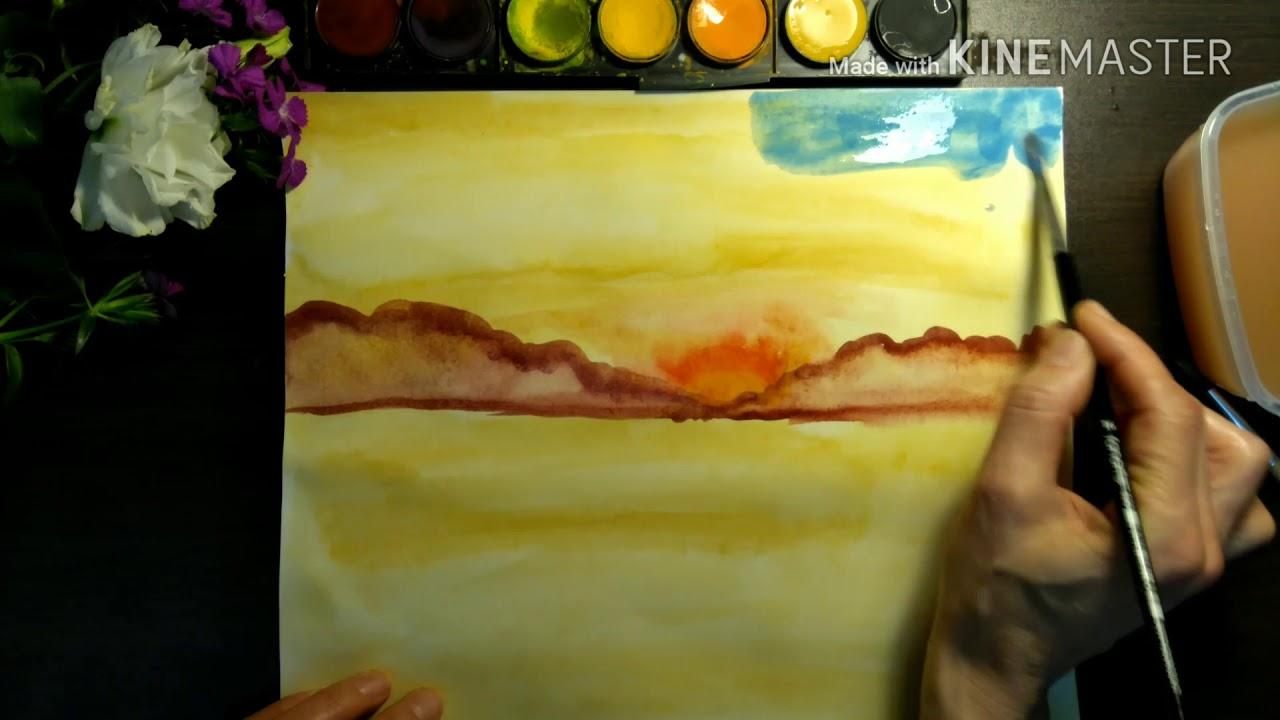 Suluboya Teknikleri How To Use Watercolor Youtube