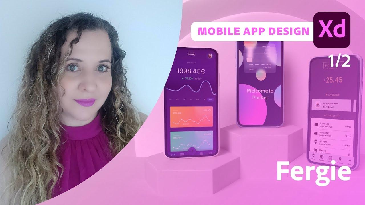 Mobile App Design in XD with Rebecca Ferguson - 1 of 2