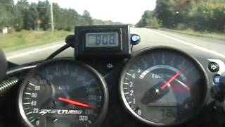 kawasaki ZX9R Turbo Top Speed Run