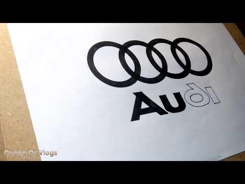 Vẽ logo Audi - Draw logo audi