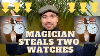 Michael McIntyre Magician - Summer party booking. Double watch stealing.