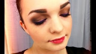 Tutorial: Brown Smokey Eyes with a Pop of Purple! ♥ (Fall look) Thumbnail