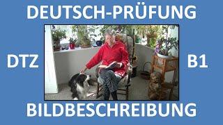 deutsch lernen b1 prfung dtz mndliche prfung bildbeschreibung frau mit hund