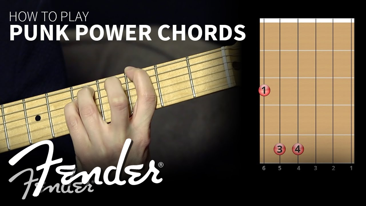 How To Learn To Play Punk Power Chords Fender Youtube