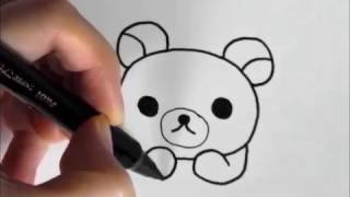 How to draw Rilakkuma   face-version   [Japanese character]  illustration