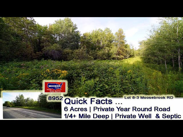 Low Cost Land For Sale In Maine | 6 Acres Moosebrook RD Ludlow ME MOOERS REALTY #8952