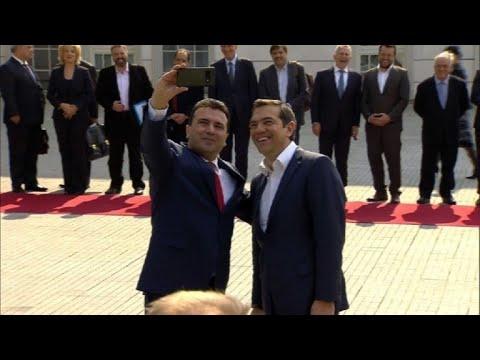 Macédoine du Nord : visite historique d'Alexis Tsipras à Skopje | AFP Images