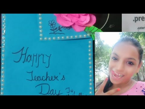 Card Making by Dhara, DIY Teacher's Day card making/how to make Teacher day card, Mother's day card