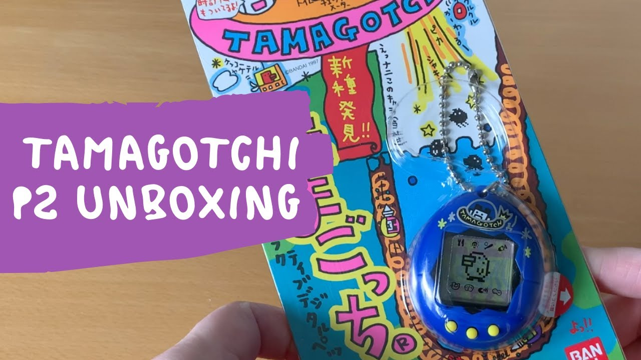 Unboxing a vintage Tamagotchi P2   Walkthrough & gameplay + my star themed tama collection