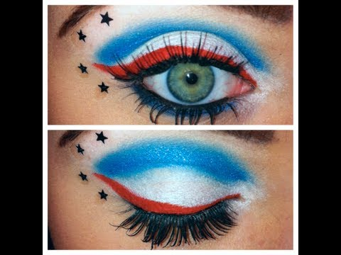 The Avengers Captain America Inspired Make Up - YouTube