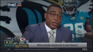FIRST THINGS FIRST | Cris Carter on Which conternder should trade for Jalen Ramsey?