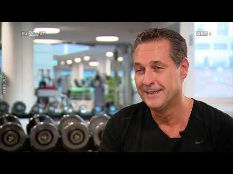 Heinz-Christian Strache (FPÖ) im Fitness-Center