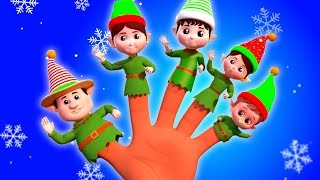 elf jari keluarga | lagu-lagu Natal Natal | Lagu Anak | Elves Finger Family | Farmees Indonesia