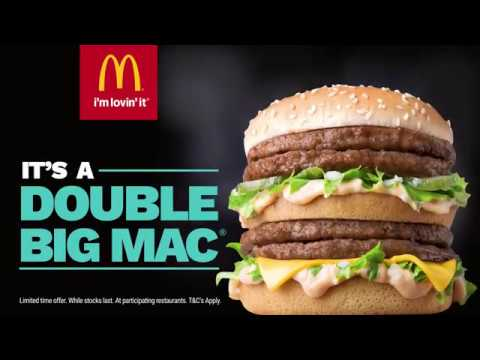 Mcdonald S Double Big Mac Youtube