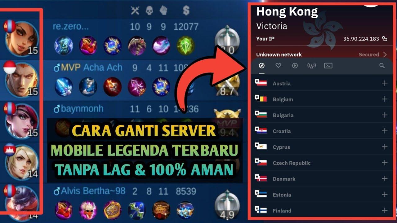 Cara Merubah Server Mobile Legend Ke Negara Lain | Ganti Server Mobile Legend | Vpn Ganti Server