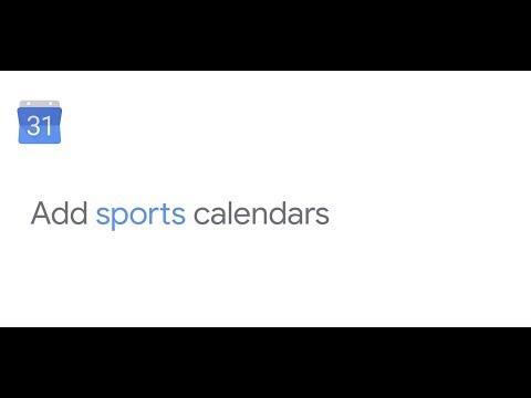Add sports calendars in Google Calendar