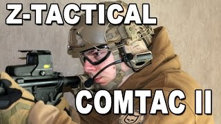 aIRSOFT  REVIEW  TBC  Z-Tactical ComTac II with PTT A-TACS ( ENGLISH SUBS )