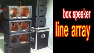 buat box sound system line array 12inch di cianjur