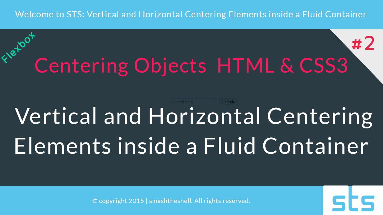 How to Vertically and Horizontally Center Elements with CSS3 - Flexbox | #2
