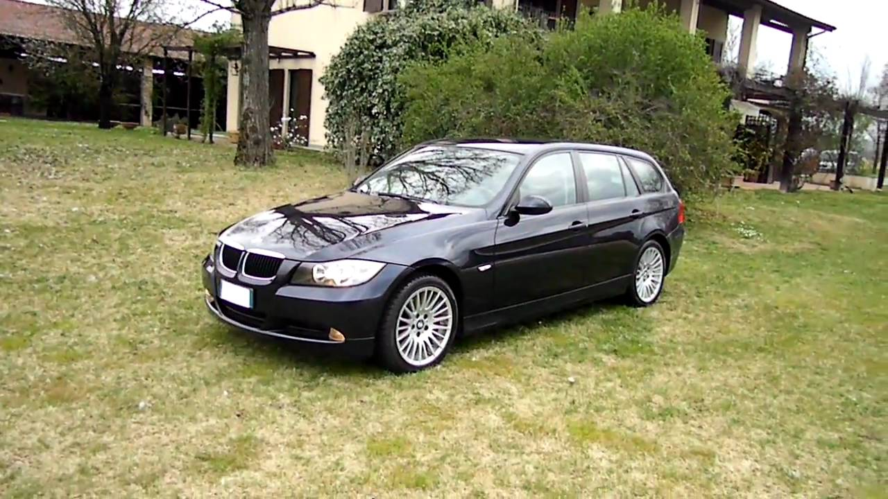 sam 4613 bmw 320d touring 2007 blu met con cerchi da youtube. Black Bedroom Furniture Sets. Home Design Ideas